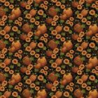 Pumpkin Patch By Cheryl Haynes For Benartex Black Pumpkins  Sunflowers
