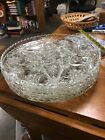 1 Anchor Hocking Star of David Pressed Glass 13.5'' Serving Platter 4 Available