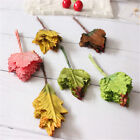 24Pcs Artificial Autumn Maple Fall Leaf Art Craft Fake Leaves Home Party Decor
