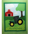 JOHN DEERE TRACTOR MY JOHN DEERE FLEECE BLANKET FABRIC PANEL GREEN YELLOW NEW