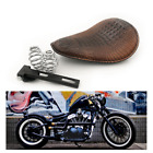 US Alligator Motorcycle Leather Solo Driver Seat for Harley Chopper Bobber Brown