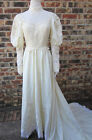 BEAUTIFUL VINTAGE WEDDING IVORY BEIGE DRESS SIZE SMALL