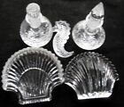 Waterford Crystal Seahorse and Shell Paperweight, Shell Dish, 2 Bottle