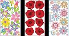 U CHOOSE Sticko Stickers FANCIFUL FLOWERS RED ROSES VELLUM CRAZY DAISIES