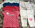 NWT 6pc BABY GIRL CARTERS CLOTHING LOT SIZE NEWBORN