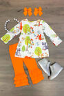 Toddler Baby Girls Floral Fox Tops Dress Long Pants Headband Outfits Clothes USA