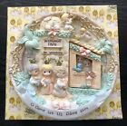 Precious Moments 1998 Plate Nativity With Hinged Door O Come Let Us Adore Him