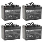 UPG UB12350 12V 35AH Internal Thread Battery for Leisure Lift AGM1234T 4 Pack