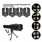 LED Flashlight Projection Lamp Projector Christmas Pattern Portable For Party Ou