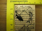 Rubber Stamp NEW Danse Macabre Halloween Stampendous Stampinsisters 558