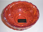 RED  Heritage GLASS BOWL  Hand Made By Smith Sawtooth Edge WITH ORIGINAL STICKER