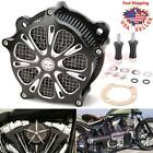 Contrast Air Cleaner Intake Filter Kit For Harley Touring Dyna Softail 1997 2007