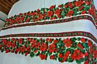 Vintage Christmas Tablecloth Red Poinsettia