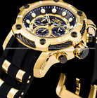 Invicta Men's Bolt Chronograph Black Dial 51mm Gold-Plated Stainless St Watch