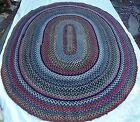 Antique Braided  Rag Rug American Hand Made 10 ft x 8 ft
