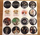 QUEEN FREDDY MERCURY Epoxy Stickers 1 inch round 4 Bottle Cap  Craft Projects