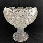 Smith Glass Daisy and Button Punch Bowl and Stand