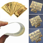 7pcs Set Paper Money USA Dollars Collection Banknotes Gold Foil Bill Art Craft