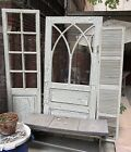 Stunning Gothic Antique Distressed White Door