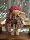 FOLK Art PRIMITIVE CounTry ChrisTmas Star Home SNOWMAN DOLL Holiday DecoraTion