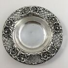 Antique Whiting Bon Nut Dish Lattice Border Sterling Silver