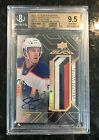 2015 16 UD Black Rookie Trademarks Auto Relics Gold - Connor McDavid 10 15