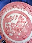 Churchill England  Rose Red Pink Willow 10 3 8 Dinner Plates SCARCE