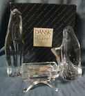 DANSK Crystal Glass NATIVITY Figurines Set in Box MARY JOSEPH JESUS Christmas