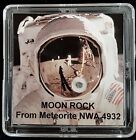 DELUXE EDITION AUTHENTICATED LUNAR METEORITE 12mg Moon Rock Display+Easel a