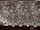 Extraordinary 19th C. machine Mechlin lace  long yardage  BRIDE SEW COLLECT