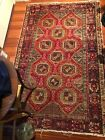 '4 X 4' Plush Amazing Genuine Persian Tribal Hamadan Hand Knotted Wool Area Rug