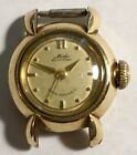 VINTAGE LADIES MIDO MULTIFORT AUTOMATIC GOLD TONE