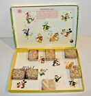 Vintage Disney's Carousel 7 pc. Rubber Stamp Wood Block Set Mickey Mouse Italy