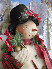 primitive doll,Christmas,Pattern, Snowman,sewing,27in., dumplinragamuffin