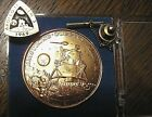 RARE Vintage NASA Apollo 11 Launch Team Mission Tie Tack  Coin LEM 5 1969