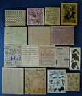 Large Background Rubber Stamps Wood Mounted You Choose Free Shipping