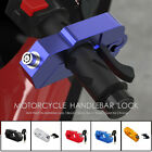 Motorcycle Handlebar Grip Brake Lever Lock Anit Theft Security Caps Lock