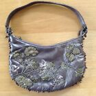 Jigsaw gold leather highly decorated evening bag