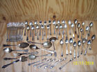 Mixed Lot Silverplate Spoons Knives Forks Antique Flatware Silver 60 Pcs
