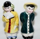 Set of Vintage Asian Couple Salt and Pepper Shakers Signed Made in Japan
