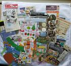 Scrapbook Stickers Paper Die Cut Mixed Lot Sports Baby Christmas Fall