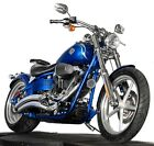 2009 Harley-Davidson Softail  2009 Harley Davidson Softail Rocker Custom FXCWC Blue Flame Paint Low Miles!