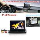 5 HD Car LCD Monitor Rear View Backup Display +Cable for Reverse Parking Camera