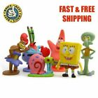 6PCS Set SpongeBob Squarepants Patrick Star Squidward Tentacles Figure Toys Gift