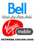 Unlock Code Bell Canada Samsung Galaxy S8 S8+ S7 Active S6 Note 5 4 Express S5