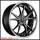 19 VERTINI DARK NIGHT CONCAVE MACHINE WHEELS RIMS FITS ACURA RL RLX