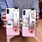 Cute Hello Kitty Wristband Holder Case Cover for iPhone Xs Max Xr X 6S 7 8 Plus