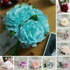 11 Silk Artificial Peony Flowers Bouquet Wedding Party Centerpieces Decorations