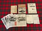 ORIGINAL 1967 Alfa Romeo Duetto Spider 1600 Owners Manual & Other Related Items