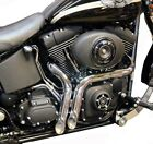 Chrome 1 3 4 LAF LAF Porkers Exhaust Drag Short Pipes Harley Softail 86 2019